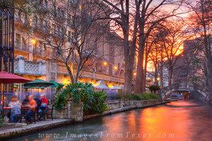 San Antonio Riverwalk Sunset