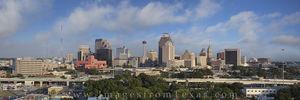 San Antonio Skyline Panorama Afternoon 1
