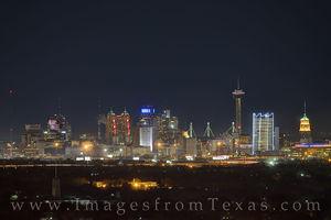 San Antonio Skyline on a Winter Night 103-1