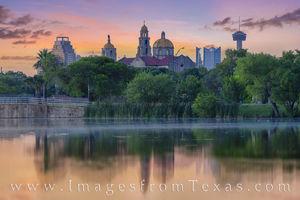 San Antonio Skyline on a Summer Sunrise 611-1
