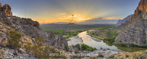 Santa Elena Canyon Sunrise Panorama 1