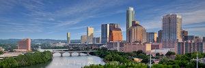 Skyline Pano of Austin in April 2