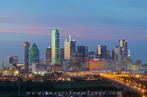 Dallas and Fort Worth Skyline Images and Prints
