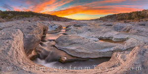 Spring Sunset Panorama at Pedernales Falls 314-4