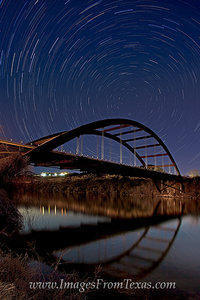 Star Trails over the 360 Bridge