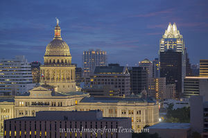 State Capitol and the Austonian Evening 1