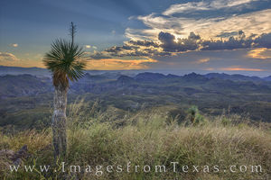 Sunrays over Oso Peak - Big Bend Ranch State Park 1