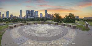 Sunrise over Austin, Texas Panorama 3