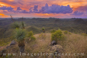 Sunset from Oso Peak, Big Bend Ranch 3