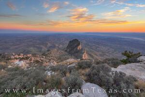 Sunset over Guadalupe Peak and El Capitan 1