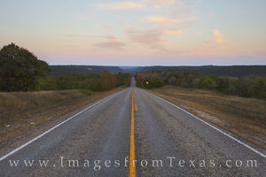 Texas Hill Country Road to Evening 1