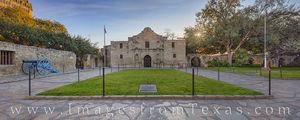 The Alamo at Sunrise Panorama 1231-1