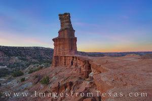 The Lighthouse at Sunset - Palo Duro 1124-1
