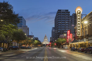 The Paramount and Texas State Capitol