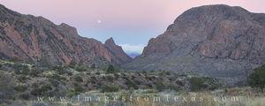 The Window Panorama at Moonset 1, Big Bend