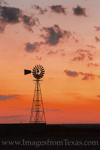 Windmill on a West Texas Sunrise 724-1
