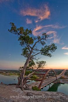 360 Bridge Moonset 1 - Austin, Texas