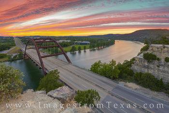 360 Bridge Sunset in October 2