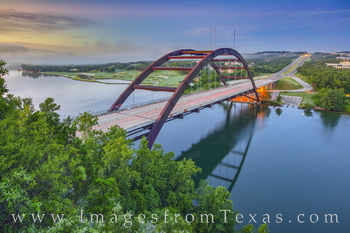 360 Bridge, pennybacker, austin bridges, morning, fog, austin, icons, prints for sale, best austin images