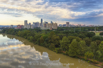 Aerial - Downtown Austin Tx from the East Side 1