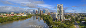 Aerial Pano of Austin Texas looking West 1
