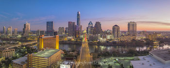 Aerial Pano of Austin Skyline from Congress 1