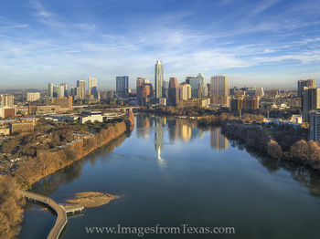 Aerial View of Downtown Austin in January 1