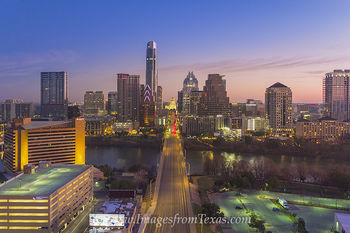 Aerial of Austin Skyline over Congress 2