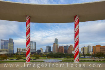 Austin Christmas, Long Center Christmas, candy canes, long center, austin skyline, downtown austin, zilker park, austin texas