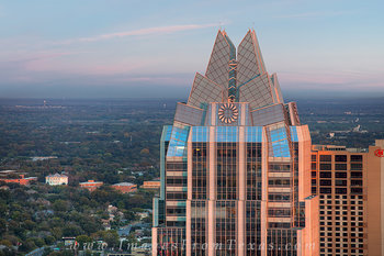 Austin Evening and the Frost Tower