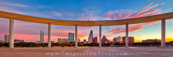 Sunrise Panorama from the Long Center