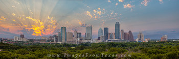 Downtown Austin Panorama,Austin Skyline Pano,Austin skyline prints,Austin stock photos,Austin sunrise