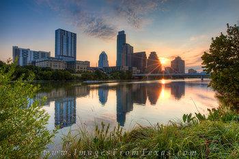 Austin Skyline Sunrise from Zilker Park