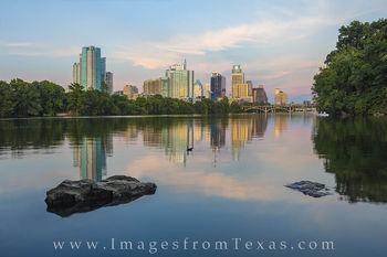 Austin Skyline in August 2