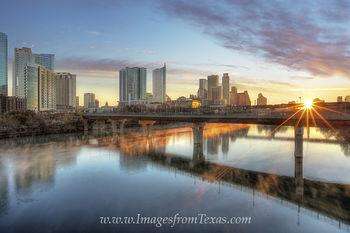 Austin Sunrise from Lamar Bridge 1