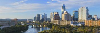 Austin Texas Skyline Late Afternoon 1