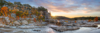 hill country panorama,texas hill country,autumn colors,Texas,pedernales falls state park,autumn in texas
