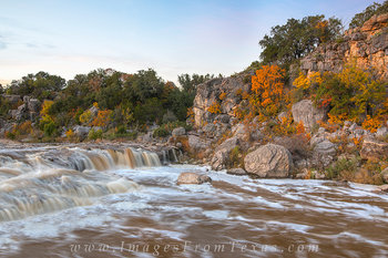 pedernales river flood,pedernales falls,texas hill country,hill country prints,autumn in texas
