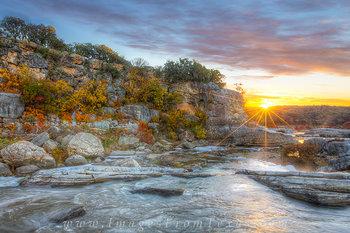Autumn Color Sunrise, Pedernales Falls 1