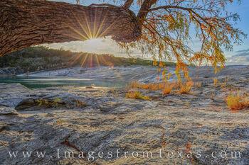 Autumn Sunset at Pedernales Falls R1122-1