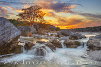 Autumn Sunset on the Pedernales River 1115-1