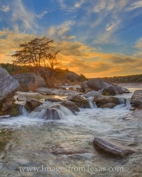 Autumn Sunset on the Pedernales River 1115-5