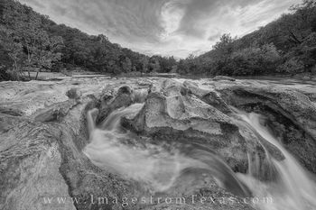 barton creek greenbelt, black and white, barton creek, austin greenbelt, austin texas, austin images, sculpture falls, waterfalls, texas waterfalls, texas images, barton creek photos