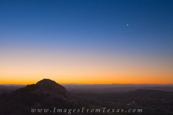 Moonrise over Enchanted Rock State Park