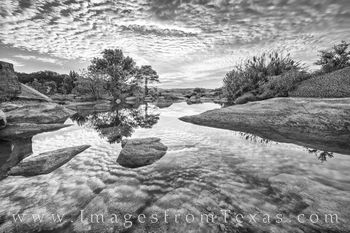 Black and White September Sunrise in the Hill Country 4