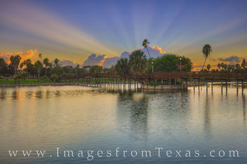 resaca, brownsville, texas southmost college, water, sunrise, bridge, palm trees, texas coast, border town, border, waterway