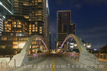 butterfly bridge, austin, downtown, skylne, morning, bridge, 2nd street, shoal creek