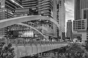 butterfly bridge, austin, downtown, austonian, shoal creek, skyline, 2nd street, sunrise, morning, bridge