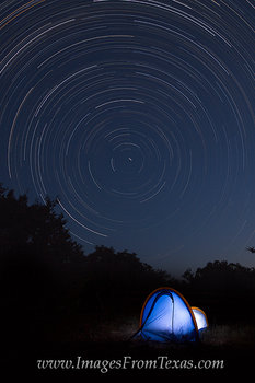 Texa Hill Country,Star Trails images,camping in the hill country