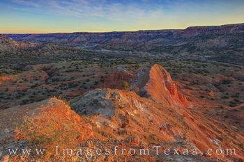 Capitol Peak Sunrise - Paldo Duro Canyon 1125-2
